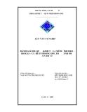 LUẬN VĂN TỐT NGHIỆP : ĐÁNH GIÁ HIỆU QUẢ KINH TẾ CỦA MÔ HÌNH HEO - BIOGAS - CÁ Ở HUYỆN PHONG ĐIỀN, THÀNH PHỐ CẦN THƠ