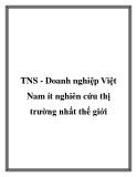 TNS - Doanh nghiệp Việt Nam ít nghiên cứu thị trường nhất thế giới