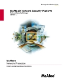 McAfee® Network Security Platform: Network Security Manager version 5.1