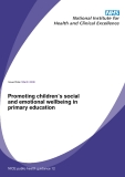 Promoting children's social  and emotional wellbeing in  primary education