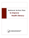 National Action Plan to Improve Health Literacy