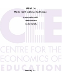 Mental Health and Education Decisions: CEE DP 136