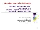 Bài giảng Khai phá dữ liệu web (PGS.TS. Hà Quang Thụy) - Chương 3 & 4