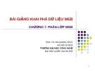 Bài giảng Khai phá dữ liệu web (PGS.TS. Hà Quang Thụy) - Chương  7. Phân lớp web