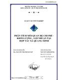 """ĐỀ TÀI """" Phân tích mối liên hệ chi phí - khối lượng -lợi nhuận tại HTX Quang Minh """""""