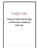 Luận văn: Công tác kiểm toán tại công ty Kiểm toán và định giá Việt Nam