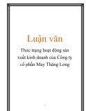 Luận văn:  Thưc trạng hoạt động sản xuất kinh doanh của Công ty cổ phần May Thăng Long