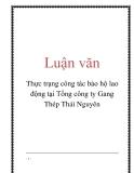 Luận văn: Thực trạng công tác bảo hộ lao động tại Tổng công ty Gang Thép Thái Nguyên