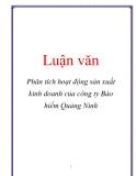 Luận văn: Phân tích hoạt động sản xuất kinh doanh của công ty Bảo hiểm Quảng Ninh