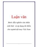Luận văn: Bước đầu nghiên cứu nhãn sinh thái và áp dụng thí điểm cho ngành dệt may Việt Nam