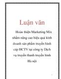 Luận văn: Hoàn thiện Marketing Mix nhằm nâng cao hiệu quả kinh doanh sản phẩm truyền hình cáp HCTV tại công ty Dịch vụ truyền thanh truyền hình Hà nội