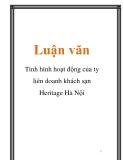 Luận văn: Tình hình hoạt động của ty liên doanh khách sạn Heritage Hà Nội