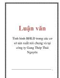 Luận văn: Tình hình BHLĐ trong các cơ sở sản xuất nói chung và tại công ty Gang Thép Thái Nguyên
