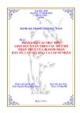 TIỂU LUẬN: PHÂN LOẠI CÁC MỤC TIÊU GIÁO DỤC TOÁN THEO CÁC MỨC ĐỘ NHẬN THỨC CỦA BLOOM PHẦN DÃY SỐ, CẤP SỐ CỘNG VÀ CẤP SỐ NHÂN