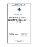 Luận văn: PHÂN TÍCH HIỆU QUẢ SẢN XUẤT MÔ HÌNH LUÂN CANH 2 VỤ LÚA 1 VỤ BẮP CỦA NÔNG HỘ HUYỆN BA TRI – BẾN TRE