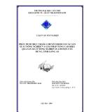 LUẬN VĂN TỐT NGHIỆP PHÂN TÍCH THỰC TRẠNG CHUYỂN DỊCH CƠ CẤU SẢN XUẤT NÔNG NGHIỆP VÀ GIẢI PHÁP NÂNG CAO HIỆU QUẢ SẢN XUẤT NÔNG NGHIỆP CỦA HUYỆN TÂN HƯNG, TỈNH LONG AN
