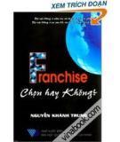Làm sao bán franchise?
