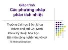 Giáo trình Các phương pháp phân tích nhiệt - TS Hoàng Đông Nam