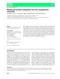 Báo cáo khoa học:  Membrane protein integration into the endoplasmic reticulum