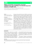Báo cáo khoa học: Affinity and kinetics of proprotein convertase subtilisin ⁄ kexin type 9 binding to low-density lipoprotein receptors on HepG2 cells