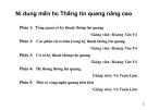 Bài giảng thông tin quang nâng cao - Phan 2