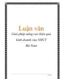 Báo cáo: Giải pháp nâng cao hiệu quả kinh doanh của NHCT Hà Nam
