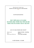 Luận văn:  PHÁT TRIỂN DỊCH VỤ TÀI CHÍNH CỦA NGÂN HÀNG THƯƠNG MẠI TRÊN ĐỊA BÀN THÀNH PHỐ HỒ CHÍ MINH THỜI KỲ HẬU WTO