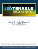 Nessus Credential Checks for Unix and Windows