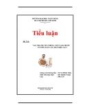 Tiểu luận: giá trị truyền thống Việt Nam trước xu thế toàn cầu hóa hiện nay