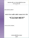 """ĐỀ TÀI MARKETING QUỐC TẾ  : PHÂN TÍCH CHIẾN LƯỢC MARKETING CỦA """"CLEAR MEN"""""""