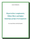 "Đề tài ""  Hypersurface complements, Milnor fibers and higher homotopy groups of arrangments """