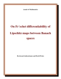 "Đề tài ""On Fr´echet differentiability of Lipschitz maps between Banach spaces """