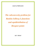 "Đề tài "" The subconvexity problem for Rankin-Selberg L-functions and equidistribution of Heegner points """