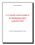 """Đề tài """"  A C2-smooth counterexample to the Hamiltonian Seifert conjecture in R4 """""""