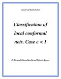 "Đề tài "" Classification of local conformal nets. Case c"