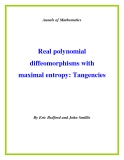 "Đề tài "" Real polynomial diffeomorphisms with maximal entropy: Tangencies """