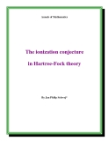 """Đề tài """" The ionization conjecture in Hartree-Fock theory """""""