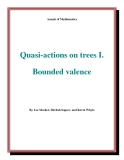 "Đề tài "" Quasi-actions on trees I. Bounded valence """