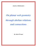 "Đề tài "" On planar web geometry through abelian relations and connections """