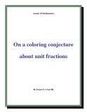 "Đề tài "" On a coloring conjecture about unit fractions """