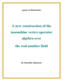 "Đề tài "" A new construction of the moonshine vertex operator algebra over the real number field """
