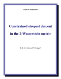 "Đề tài "" Constrained steepest descent in the 2-Wasserstein metric """