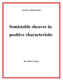 """Đề tài """"Semistable sheaves in positive characteristic """""""