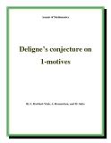 "Đề tài "" Deligne's conjecture on 1-motives """