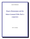 """Đề tài """" Rogers-Ramanujan and the Baker-Gammel-Wills (Pad´e) conjecture """""""