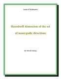 "Đề tài "" Hausdorff dimension of the set of nonergodic directions """