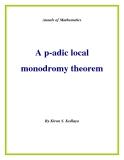 "Đề tài ""  A p-adic local monodromy theorem """