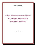 "Đề tài "" Global existence and convergence for a higher order flow in conformal geometry"""