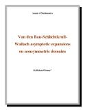 "Đề tài "" Van den Ban-SchlichtkrullWallach asymptotic expansions on nonsymmetric domains """