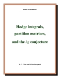 "Đề tài ""  Hodge integrals, partition matrices, and the λg conjecture """